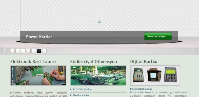 M-Teknik Endüstriyel Elektronik Web Sitesi