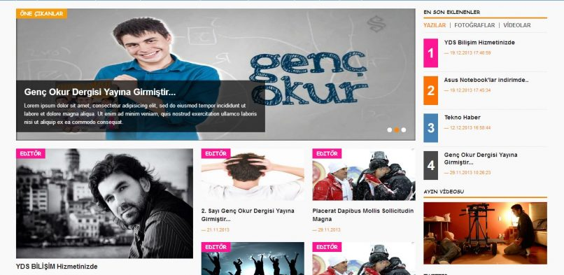 Genç Okur Dergi Web Projesi Demosu