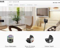 Masaj Koltuğu Teknik Servisi Web Sitesi