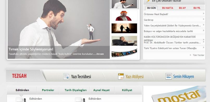 Mostar Dergi Web Projesi